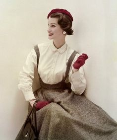 1950s fashion photography by John Rawlings.