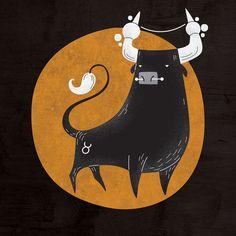 Zodiac Horoscope by Alexandre Mauro, via Behance