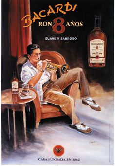 The Rum Diaries (in pictures): Bacardi posters from to 1999 tell story of the man behind the rum Vintage Advertising Posters, Vintage Travel Posters, Vintage Advertisements, Vintage Cuba, Vintage Ads, Havana Nights Party Theme, Our Man In Havana, Pin Up, Bacardi Rum