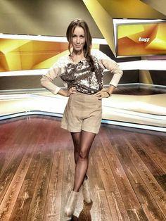 Barbara Meier in pantyhose | marlkar | Strapless Dress ...