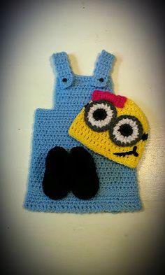 Little Minion Girl Set Crochet Pattern