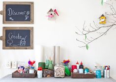 inviting display- this would make a great reggio inspired creation station in the art area. my wheels are turning