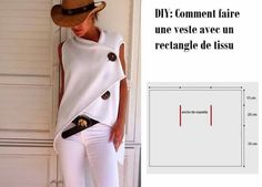 Made in France: Diy 15 Sewing Ideas Fall Winter Season Diy Clothing, Clothing Patterns, Dress Patterns, Diy Fashion, Womens Fashion, Creation Couture, Couture Sewing, Couture Tops, Crochet Cardigan