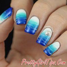 @prettygirltips Blue Ombre Nails via