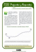 Evolución de la edad media a la maternidad. Andalucía, 1975-2011