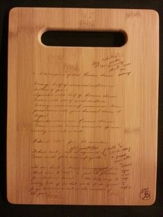 Custom engraved cutting board for JoEllen from 3DCarving on Etsy