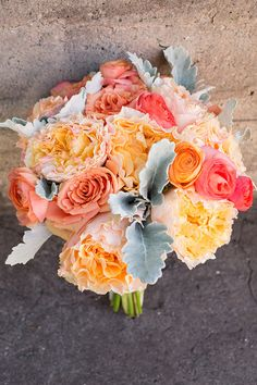 Peach Miami Wedding from Captured Photography - Southern Weddings Magazine