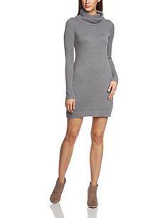ESPRIT Damen Strick Kleid mit großem Rollkragen