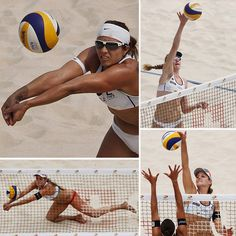 Women's 2012 US Olympic Beach Volleyball Team-Misty May and Kerri Walsh. INSPIRATION!