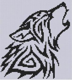 Wolf Cross Stitch Pattern  | Craftsy