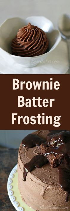 Batter Frosting ☼☼ Brownie Batter Frosting - tried this one - it really does taste like brownie batter!☼☼ Brownie Batter Frosting - tried this one - it really does taste like brownie batter! Cupcake Recipes, Baking Recipes, Cupcake Cakes, Dessert Recipes, Cupcake Ideas, Baking Tips, Mini Cakes, Icing Frosting, Cake Icing
