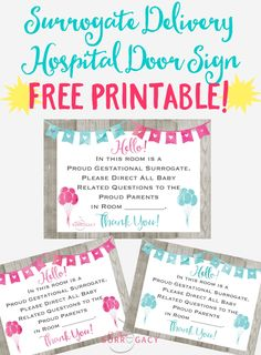 FREE Printable for your Surrogate Delivery! A fun sign for the hospital door that explains it all! Hospital Door Signs, Surrogacy Gestational, Make A Family, Fun Signs, Baby Momma, Baby Baby, Getting Pregnant, Cool Websites, Pregnancy Photos