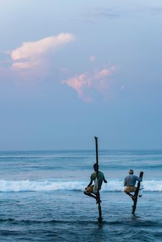 Traditional stilt fishermen - Midigama, Weligama, Sri Lanka #Indistay