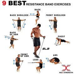 Resistance Tube Workout, Resistance Band Training, Resistance Band Exercises, Glute Exercises, Full Body Workout Routine, Gym Workout Tips, At Home Workouts, Band Workouts, Butt Workout