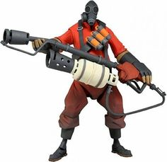 NECA Team Fortress 2 RED Series 1 Action Figure Pyro [In Game Virtual Item Redemption Code!]