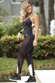 Macacão Show - Oxyfit 151891023 Fit You Fashion Fitness Gym Wear For Women, Fit Women, Tight Leggings, Leggings Are Not Pants, Estilo Fitness, Fitted Jumpsuit, Jumpsuits For Women, 1 Piece, Fitness Fashion