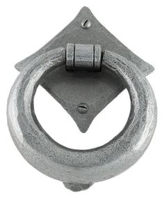 Blacksmith Pewter Patina Ring Door Knocker - This Ring Knocker is made from hand-forged steel. It is a high quality product, with a beeswax finish and hand forged using traditional English blacksmithing methods.
