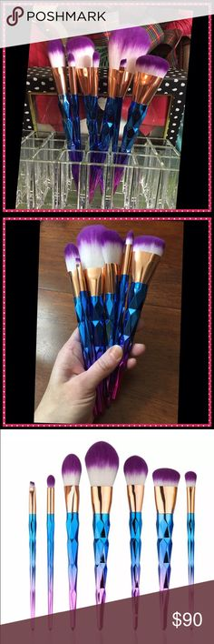 Unicorn Brushes!!! 7 Included! NEW! Unicorn Brushes!!! 7 Included! NEW! Won't last! Get them now! Makeup Brushes & Tools