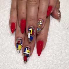 Mondrian Madness For Mchllooooooo Nailart Acrylicnails