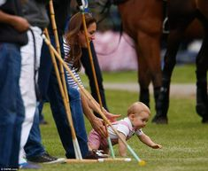 Kate  George watch William play polo! June 15, 2014