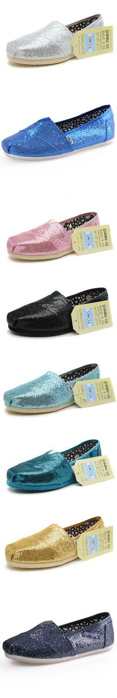 Women Toms Glitter Shoes