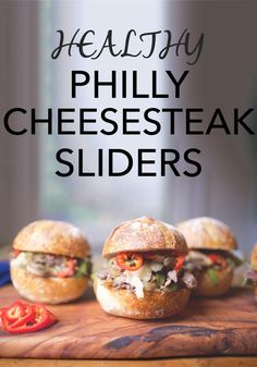 Healthy Philly Cheese Steak Sliders -- Get the same flavor of a cheesesteak sandwich without the extra fat and calories. Click through to get this mouthwatering recipe that still fits into a healthy eating plan! // recipes // nutrition // lunches // dinners // food ideas // beachbody blog