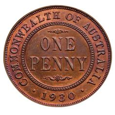 1930 Penny - Australia is best known rare coin. Only were minted & of those, still exist and are trading in todays market. There are only 6 proof coins known to exist, 3 in museums & 3 in private collections. Penny Date, Advance Australia Fair, Order Stamps, Old Money, Sweet Memories, Childhood Memories, Proof Coins, World Coins, Rare Coins