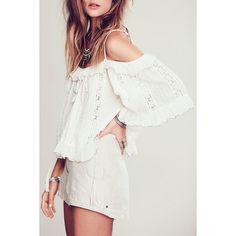 $15.20 Stylish Cami Half Sleeve White Hollow Women's Blouse - White