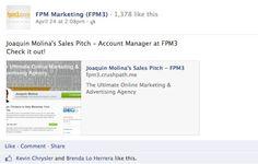 Joaquin Molina's Sales Pitch!