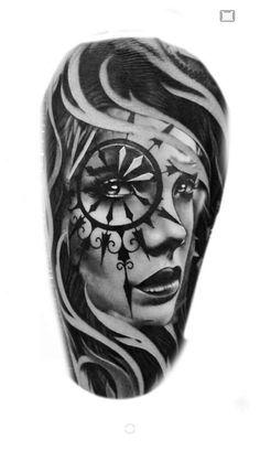 Tattoo Girls, Girl Face Tattoo, Girl Face Drawing, Girl Tattoos, Tattoo Sketches, Tattoo Drawings, Body Art Tattoos, Ozzy Tattoo, Diy Tattoo Permanent