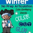 Winter Color, Cut, and Glue Articulation Activities: Later