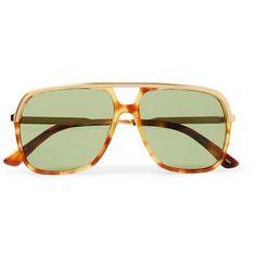 d8072618f14 Gucci - Aviator-Style Tortoiseshell Acetate And Gold-Tone Sunglasses Gucci  Models