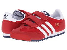 adidas Originals Kids Dragon kicks give that pop of red to any kids' holiday outfit.