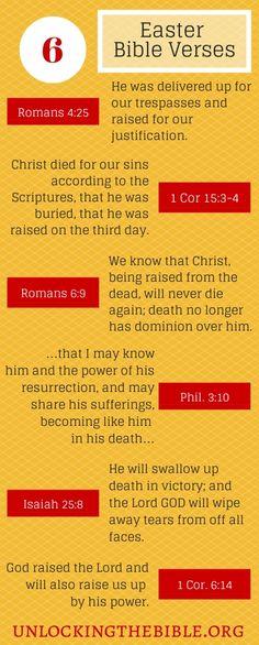 Easter Bible Verses #UTB
