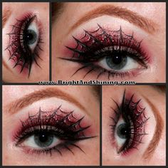 Spiderweb Eye Makeup #HalloweenMakeup2013