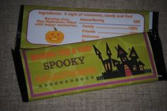 FREE, printable Hershey bar wrappers for Halloween!  So cute for your Halloween party.  Free from www.thecurriculumcornerfamily.com