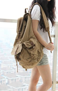 Classic #Canvas Rucksack #Backpack #Serbags