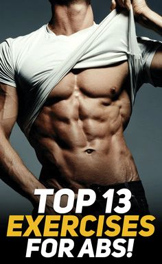 Check out the top 13 exercises for shredded abs! #abs #fitness #fit #health #exercise #workout