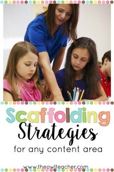 As Ive written previously, scaffolding your instruction can feel daunting and overwhelming. However, in this post I provide a list of authentic scaffolding strategies that you can start using immediately to help you meet the needs of all of your learners! Differentiation Strategies, Differentiated Instruction, Instructional Coaching, Instructional Strategies, Teaching Methods, Teaching Strategies, Teaching Ideas, Teaching Activities, Teacher Blogs