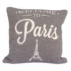 Dekorační povlak Welcome to Paris, tmavý Welcome To Paris, Drink Sleeves, Throw Pillows, Toss Pillows, Cushions, Decorative Pillows, Decor Pillows, Scatter Cushions