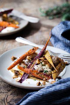 Za'atar Roasted Carrots and Cauliflower with Salted Yoghurt