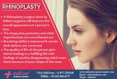 Rhinoplasty or Nose reshaping surgery generally called nose job is a commonly performed plastic surgery procedure.