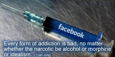 Addiction Quotes , Carl Jung Quotes, Pictures, Inspirational Quotes, Motivational Thoughts and Pictures. Facebook Addiction, Facebook Jokes, Anti Facebook, My Facebook Profile, La Constipation, Les Allergies, Internet, Fett, Socialism