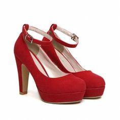 piattaforma sexy scarpe col tacco alto ufficio donne fibbia moda - €22.09