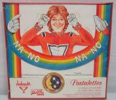 1979 Robin Williams Hallmark Postalettes Mork and Mindy Note Cards NEW SEALED #Hallmark