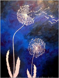 """Dandelions in the Wind"". Wine and Canvas South Bend"
