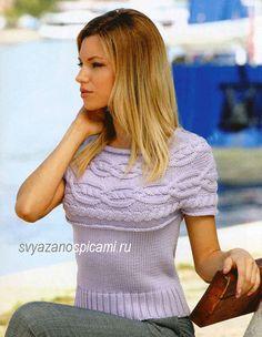 Топ с косами ÕPETUS: http://svyazanospicami.ru/modeli/top-s-koketkojj.html