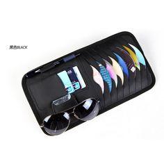 genuine leather Car Sun Visor Glass Pen CD Card Case Holder for volvo xc60 xc90 s40 s60 s80 v40 v60 v80 #Affiliate