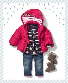 Cute baby girl outfit for the colder months ahead