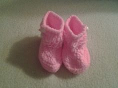 crochet baby girl loopy booties boots 36 months by crochetfifi Crochet Baby, Baby Shoes, Slippers, Booty, Trending Outfits, Unique Jewelry, Handmade Gifts, Stuff To Buy, Etsy